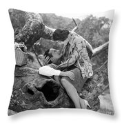 Silent Film Still: Picnic Throw Pillow