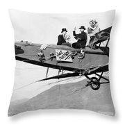 Silent Film Still: Stunts Throw Pillow
