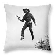 Silent Film Still: Western Throw Pillow