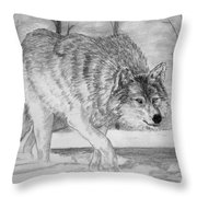 Silent Gait Throw Pillow
