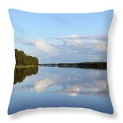Silent Lake Throw Pillow