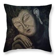 Silent Meditations Throw Pillow