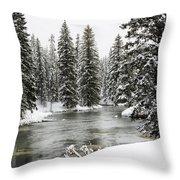 Silent River Throw Pillow