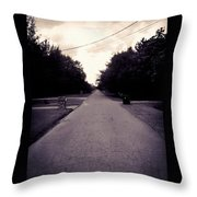 Silent Road Throw Pillow