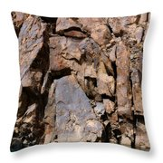 Silent Rocks Throw Pillow