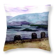 Silent Sentinels Throw Pillow by Patricia Griffin Brett
