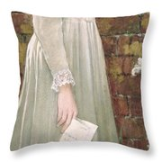 Silent Sorrow Throw Pillow by Walter Langley