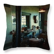 Silent Station Throw Pillow