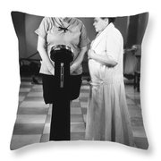 Silent Still: Weight Throw Pillow