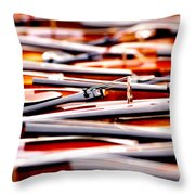Too Much Violins In Film Throw Pillow