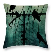 Silent Threats Throw Pillow by Andrew Paranavitana
