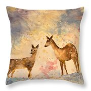 Silent Visitors Throw Pillow