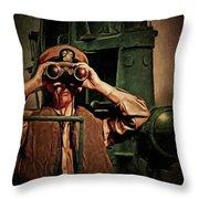 Silent Warriors Of World War 2 Oil Throw Pillow