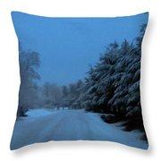 Silent Winter Night  Throw Pillow