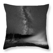 Silex Spring Milky Way Bw Throw Pillow