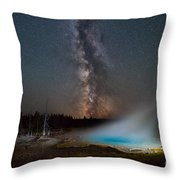 Silex Spring Milky Way  Throw Pillow