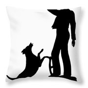 Silhouette, 1830 Throw Pillow
