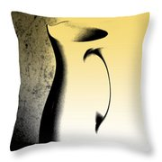 Silhouette And Shadow Play Throw Pillow