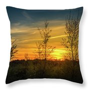 Silhouette By Sunset Throw Pillow