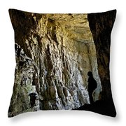 Silhouette Darby Wind Cave Throw Pillow