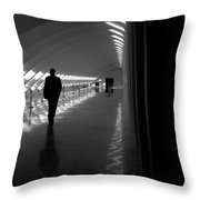 Silhouette In The Hall Throw Pillow