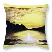 Silhouette Lagoon Throw Pillow