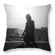 Silhouette Of A Couple  Throw Pillow
