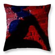 Silhouette Of A Jazz Musician 1964 Throw Pillow