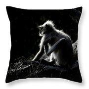 Silhouette Of A Monkey Throw Pillow