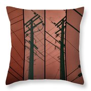 Silhouette Of Power. Throw Pillow