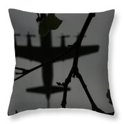 Silhouette Of War And Peace Throw Pillow