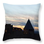 Silhouetted Castle Throw Pillow