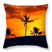 Silhouetted Golfer Throw Pillow by Dana Edmunds - Printscapes