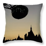 Silhouetted London Eye Capsule Throw Pillow