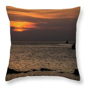 Silhouetted North Pier  Throw Pillow