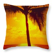 Silhouetted Palm Throw Pillow