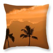 Silhouetted Palms Throw Pillow