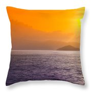 Silhouetted Ship  Throw Pillow
