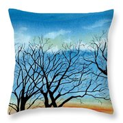 Silhouettes Against The Sky Throw Pillow