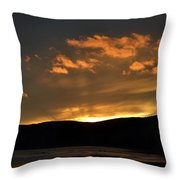 Silhouettes And Sunsets Throw Pillow