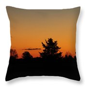 Silhouettes At Dawn Throw Pillow