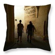 Silhouettes In Fez Throw Pillow