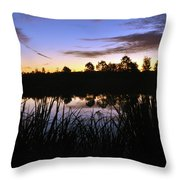 Silhouettes Of Sunrise Throw Pillow