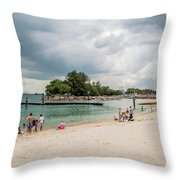 Siloso Beach Throw Pillow