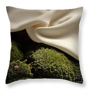 Silk And Moss Throw Pillow