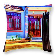 Silk Factory Owners Home Throw Pillow