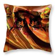 Silk Folds Throw Pillow