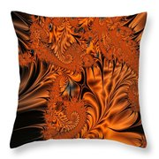 Silk In Orange Throw Pillow