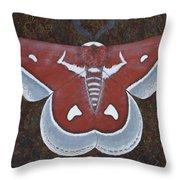 Silk Moth Throw Pillow