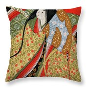 Silk Painting Throw Pillow
